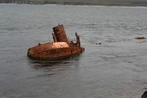 Wreck at Bunnahabhain