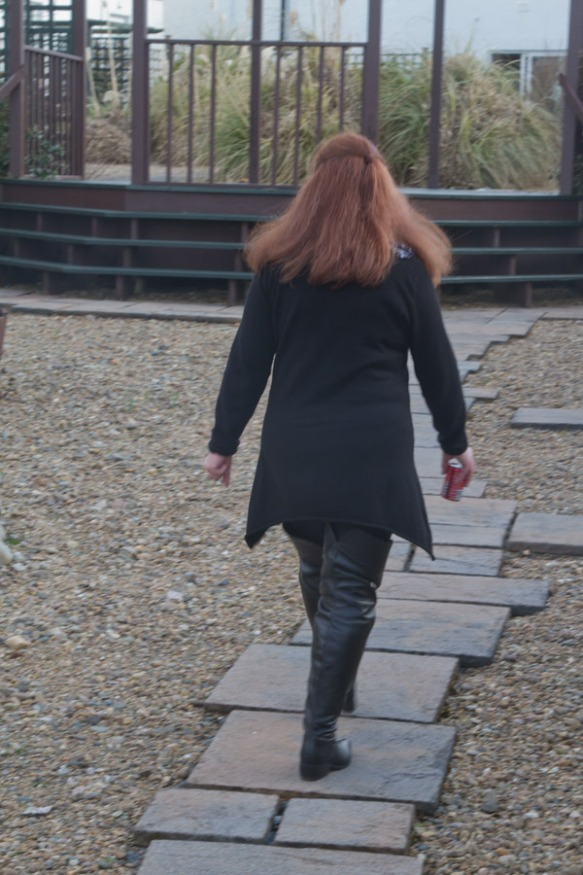 Melanie on a stroll.....