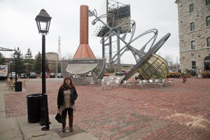 Melanie at the Distillery District