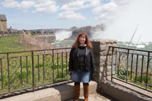 Melanie at the Falls