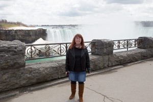 My Special Woman in front of the Falls !