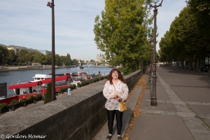 Melanie on the Seine