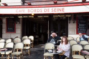 Melanie soaking up the atmoshere