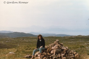 Liz at the Summit of Bealach Na Ba