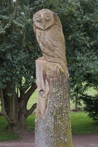 A Wood Carving in the Formal Garden
