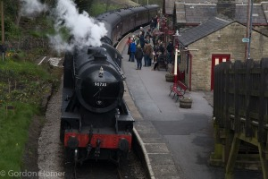 The Train arriving at Haworth