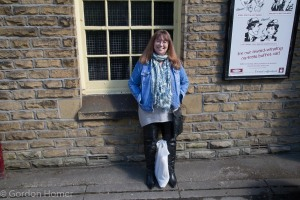 Melanie at Oxenhope Station